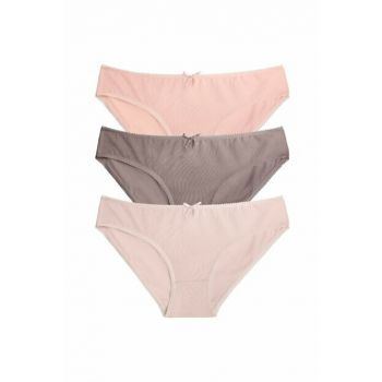 Women's Light Orange / Pink 3 Piece Color Panties ST0052601539