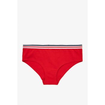 Women's Red Hipster Panties 0KLK35084MK