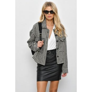 Women's Ecru-Black Crowbar Jacket KSD398