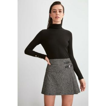 Pleated Skirt with Multicolor Buckle detail TWOAW20ET0553
