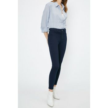 Women's Blue Pants 0YAK47335DD