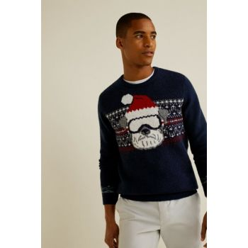 Men's Dark Blue Sweater 33027621