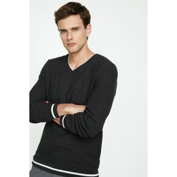 Men's Gray Pullover 9KAM94171OT