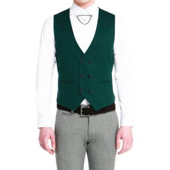 Y 144 Slim Fit Green Sports Vest Y144K01419