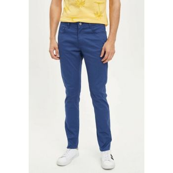 Men's Blue Slim Fit Trousers K6963AZ.19SM.BE231