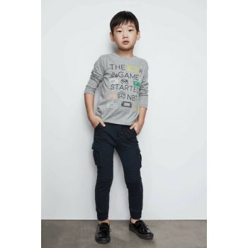 Boys' Navy Blue Trousers 19FW0NB3216