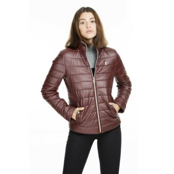 Women's Leather Leather Jacket - G082Sz035P01 Wp8033 G082SZ035P01 WP8033