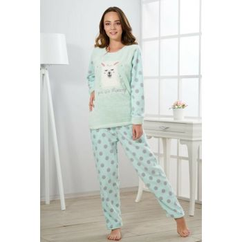 Women's Mint Green Welsoft Pajama Set 19346