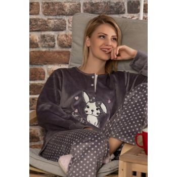Women's Anthracite Softboa Welsoft Pajama Set 23105