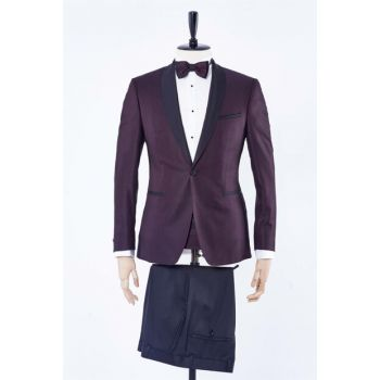 Men's Burgundy Suit - Du1182204002