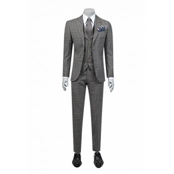 Men's Gray Vest Suit 2DFY5LP26532_301
