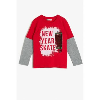 Red Boy Printed T-Shirt 0KKB16694OK
