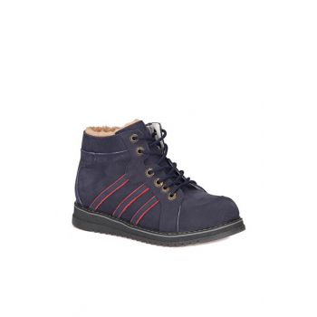 Navy Blue Men's Leather Sneaker 72.509761.F 000000000100270489