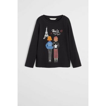 Black Girl Kids Sequin And Printed T-Shirt 57075932