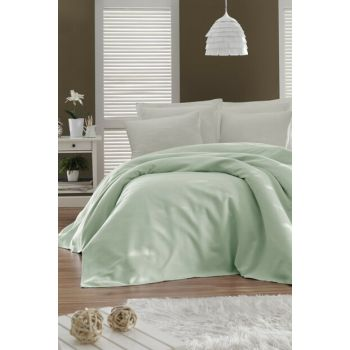 Enlora 100% Cotton Casuel Pique Bedspread Single Seater Mint Ep-021115