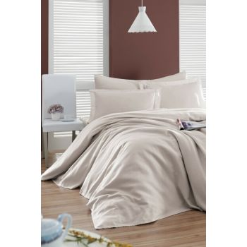 Enlora 100% Cotton Casuel Pique Bedspread Single Seater Soil Ep-021116