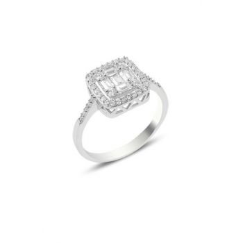 Baguette Sterling Silver Ring R132