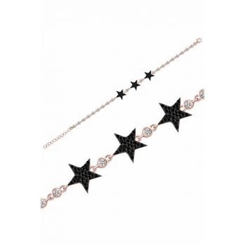Women's Rose 925 Sterling Silver Star Waterway Bracelet MA_BL_1133