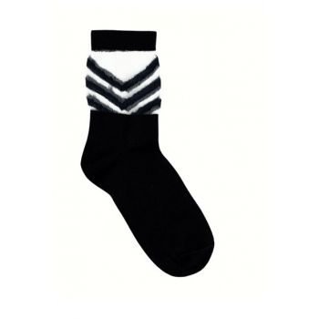 Women's Navy Blue Sheer Striped Socks 9KKCR4018X