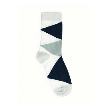 Women's Dark Jean Argyle Pattern Socks 9KKCR4004X