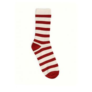 Women's Red Striped Socks 9KKCR4002X