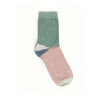 Women's Multi Color Color Blocky Socks 9KKCR4013X