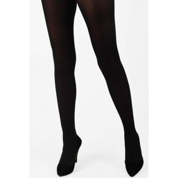 Women's Black Thick Micro Pantyhose Shiny 100 Den PE-490