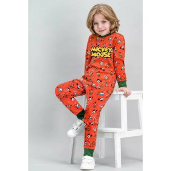 Mickey Mouse Licensed Tile Boys Kids Pajamas Set D4263-C-V2