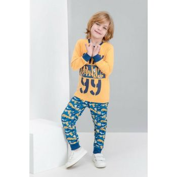 Brave Camouflage Yellow Boys Pajamas Set RP1527-C-V1