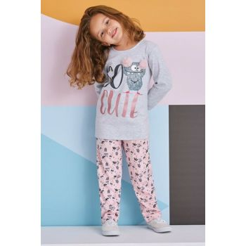 So Cute Young Girl Pajamas Set Light Gray 10-16 Age 11172