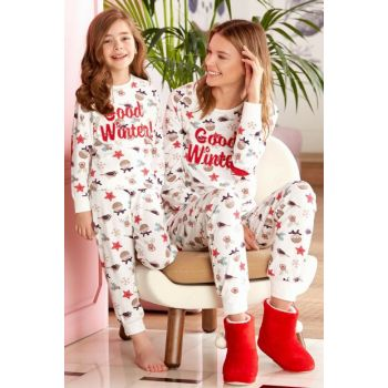 Pierre Cardin Girls' Pajamas Set for Children 4-14 Years 7418 PC7418EKRU