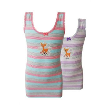 Girls' Pink-Lilac Singlet with Two Pieces 40979-1 40979-1-ph02
