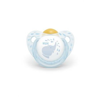Baby Rose Blue Rubber Boxed Pacifier 0-6 Months Blue 4008600317623