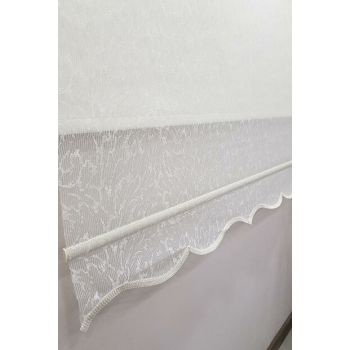 160X200 Double Mechanism Tulle Curtain and Roller Blinds MT4002 8605480990658