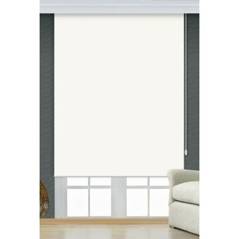 150x260 White Blackout Roller Blind Curtain with Puncture-Proof and Scratch-Proof A1004600