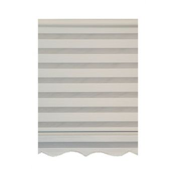 Wide Pleated Series Cream 130x200 cm Zebra Curtain SKIRT FREE MODEL 130x200 cm