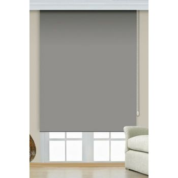 240x260 Gray Imported Thick Matte Linen Roller Blinds A1002776