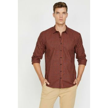 Men's Orange Check Shirt 0KAM64706LW