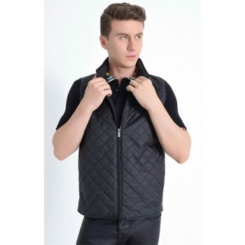 Y 145 Slim Fit Black Sports Vest Y145V01118