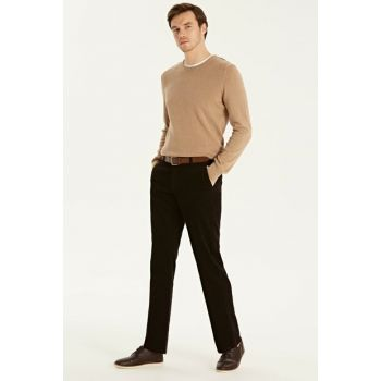 Men's Dark Brown Trousers 9W9223Z8