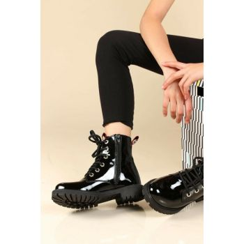 Black Patent Leather Women Boots TY006SFA1003-16777385
