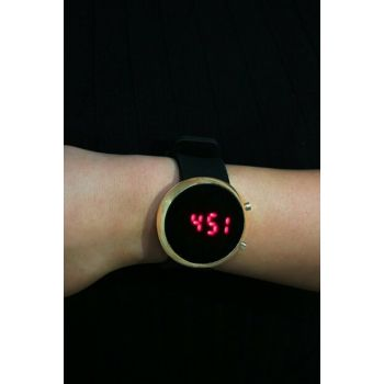 Gold Color Case with Silicone Watch Digital Unisex Watch 8695000077477