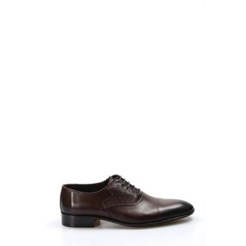 Genuine Leather Coffee Men Shoes 2115319