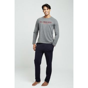 Men's Anthracite Melange Pajamas Set 18323
