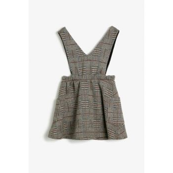 Coffee Girl Children Plaid Dress 0KKG87121AK