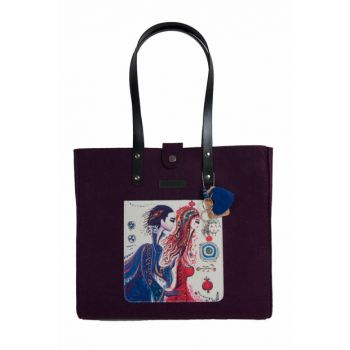 Felt Bag with Love Strap BGD100010202