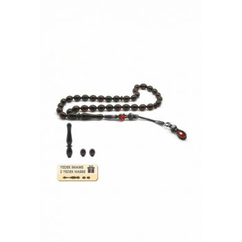 Replacement Imame-Sphere 1000 Carat Kazaz Double Tassels Barley Cut Drop Amber Rosary 101001708