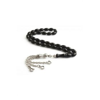 Simple Georgia Oltu Stone Prayer Beads OT-99