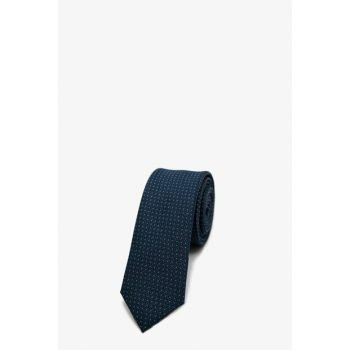 Men's Navy Blue Patterned Necktie 0KAM89018VA