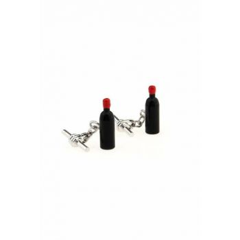 Men's Black Wine Bottle Cufflink CDKQXY81 CDKQXY81